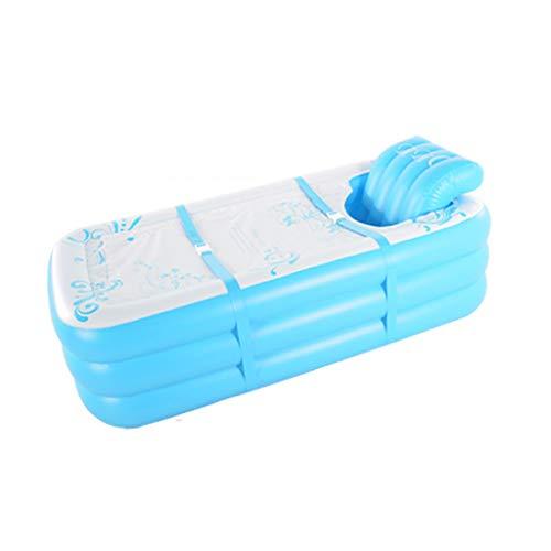 Inflatable Bathtub YX Erwachsene aufblasbare Badewanne mit abnehmbarem S-Typ aufblasbaren Stuhl 165 * 85 * 45cm mit Abdeckung für kalt und warm - Pvc-dusche-badewanne-stuhl