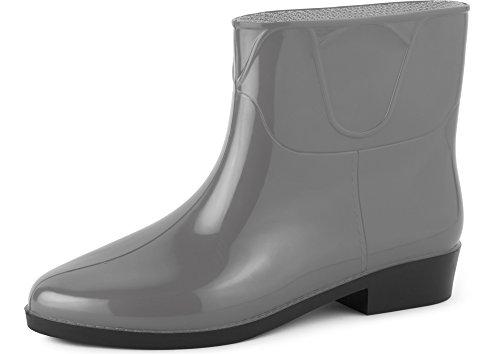 Ladeheid Botines Botas de Agua Zapatos Mujer LAZT201801 Gris, 37 EU