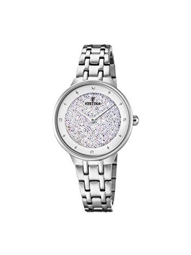 Festina Damen Analog Quarz Uhr mit Edelstahl Armband F20382/1