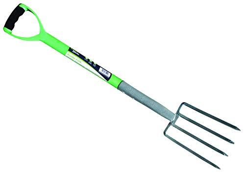 Hamble Green Blade Fourche pour Bordure avec Manche en Acier recouvert de Plastique