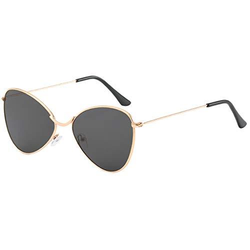 Trisee ✔ Sonnenbrille, PersöNlichkeit Sonnenbrille Herren Sonnenbrille Damen Polarisiert Polygon Brille Ohne SehstäRke Mode Retro Sonnenbrille - Metall Rahme Ultra Light UV-Schutz