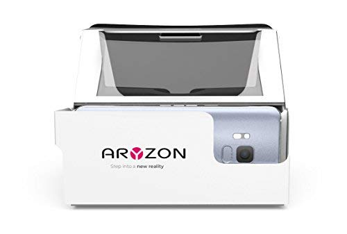 Aryzon 3D AR Headset - Smartphone angetriebene Augmented Reality Brille - Für Apple iOS & Android, Verwendet ARKit & ARCore Environment Tracking - Kompatibel Bildschirmgröße von 4.2-6.5 Zoll Open-box Apple