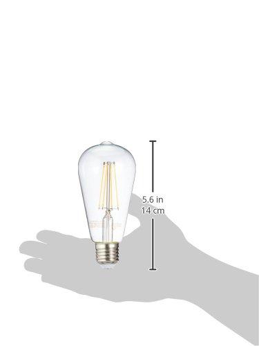 AmazonBasics Lampadina LED E27 Vintage Edison, ST64, 64, 7W (equivalenti a 60W), Filamento - Pacco da 2