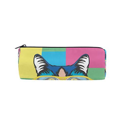 Bonipe Federmäppchen, bunte Katzen-Design, mit Reißverschluss, für Schule, Schreibwaren, Stifte, Kosmetiktasche, Make-up-Tasche