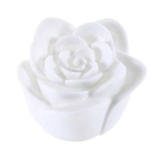 Schöner Entwurf, der 7 Farben-Rosen-Blumen-LED helle Nachtkerzen-Licht-Lampen-romantische Groß für die Haus-Partei-Verzierung ändert -