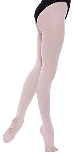 Weiche Convertible Ballett Strumpfhose. Farbe Ballett-Rosa, Größe Small