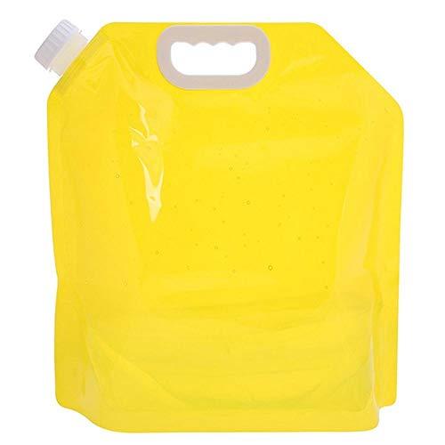 5L Faltbare Wasserbeutel, Faltbare Wasserbehälter Transparente Wasserträger Aufbewahrungstasche für Camping Wandern Picknick BBQ