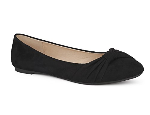 MaxMuxun Damen Geschlossene Schleife Beqeueme Office Flache Schuhe Schwarz Größe 40 EU (Schwarzen Frauen Flache Schuhe)