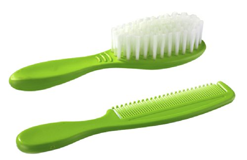 Little's Hair Brush and Comb (Green)