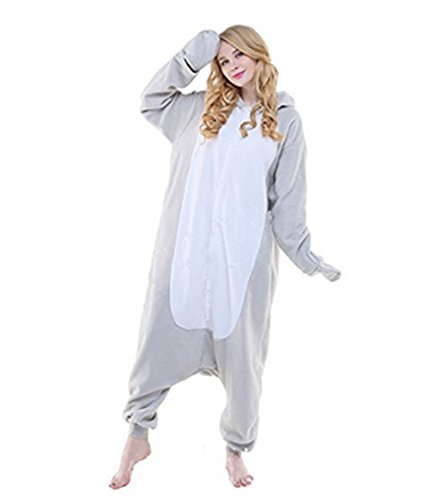 Kenmont Jumpsuit Tier Cartoon Einhorn Pyjama Overall Kostüm Sleepsuit Cosplay Animal Sleepwear für Kinder / Erwachsene (Large, Sea Lions) (Lion Damen Kostüme)
