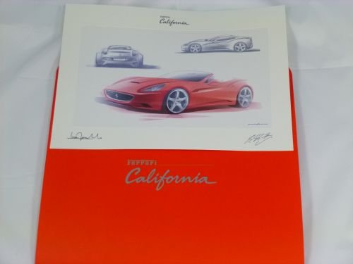 Ferrari California Lithographie Design Print Litho