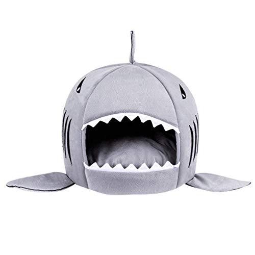 HAPPYX 2 1 Casa Perros Gatos Tiburon Colchón Plegable