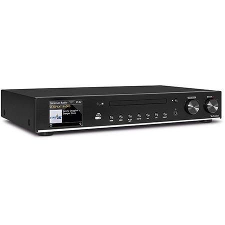 TechniSat Digitradio 140 HiFi-Tuner Internetradio (WLAN, LAN, DAB+, FM, Spotify, Bluetooth, Farbdisplay, CD-Player, Wecker, Sleeptimer, USB, Wi-Fi-Streaming, Multiroom, App-Steuerung) schwarz