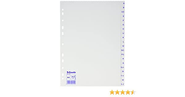 bianco a Z, A4, PP, 20/fogli Esselte plastica Register Economy