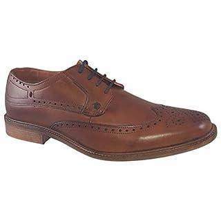 Lambretta Harvey Brogue Shoes Tan 8 UK