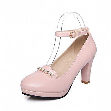 Les talons des femmes Printemps Été Automne Hiver Nouveauté Confort similicuir PU & bureau de mariage robe de soirée partie & Carrière Talon occasionnels Pink