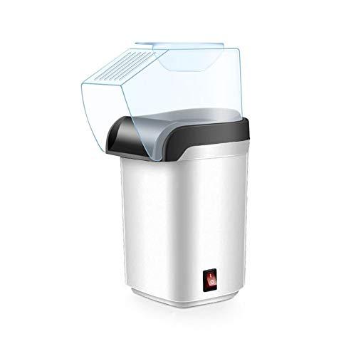 Palomitero, Máquina de hacer palomitas de aire caliente, Popcorn maker, Sin Aceites, Tapa Removible, 1200W de potencia (Blanco)