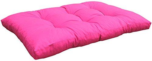 Gartenstuhl-Kissen Palettenkissen Loungekissen Sitzkissen Polster für Palette Europalette pink 120 x 80 cm