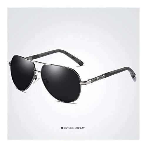 HD polarisierte Retro- große Marken-Frauen-Designer-Sonnenbrille, welche die Sonnenbrille der Männer fährt (Lenses Color : White)