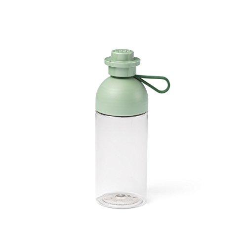 LEGO Trasparente per Acqua/Bottiglia per idratazione, 500 ml, riempibile con Ghiaccio, Sabbia Verde, Colore Sand Grün, 40420005