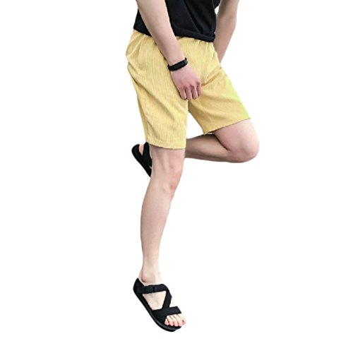 Aooword-men clothes Herren aktiv Sommer lose Maxi-Taschen Fashion Strand Shorts X-Large Gelb -