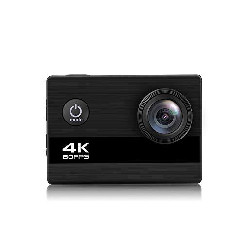 4K 24MP Wi-Fi Action Kamera Externes Mikrofon Fernbedienung Stabilisierung Unterwasser 30M wasserdichte Sportkamera Zeitraffer mit 900Mah Batterien und 20 Zubehör -