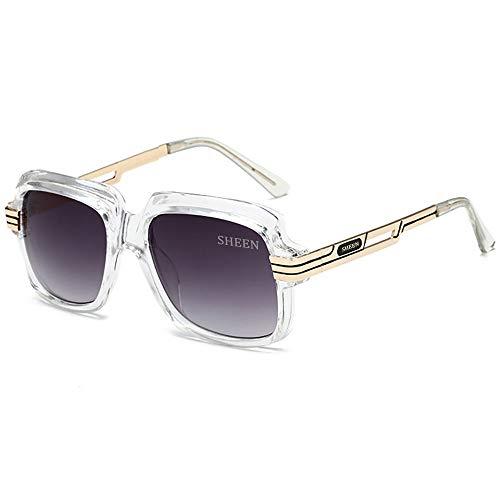 SHEEN KELLY Große Luxus Retro Sonnenbrille Herren Quadrat Vintage Designer Damen Sonnenbrille Pilot Sport Fahren Avitor Gradienten Linse