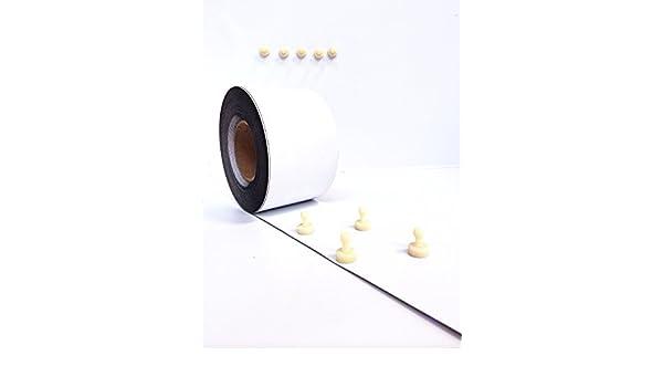 Magnetfolie Roh Wei/ß Matt 1000 x 0.8 x METERWARE