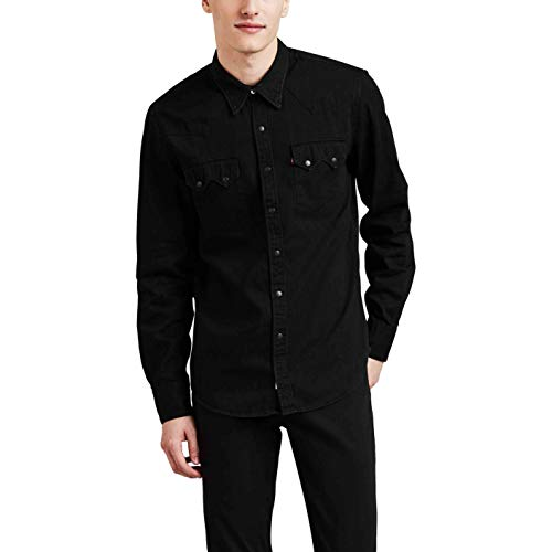 Denim Western-snap (Levi's Men's Sawtooth Western Denim Snap Shirt)