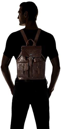 Rucksack Sparrow Dark 10x34x32 Unisex Erwachsene cm Backpack Brown Spikes Braun dITwq68w