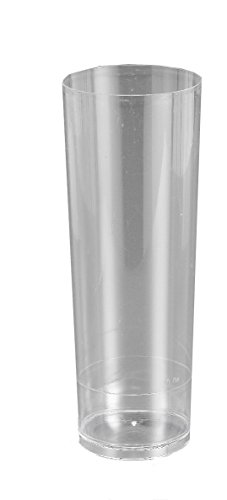 Best - Pack de 6 vasos tubo, 330 ml, transparente (251000)