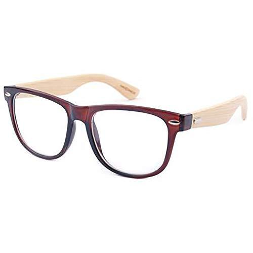 FYrainbow Bambus-Sonnenbrille mit Brillen-Etui, u verspiegelte Gläser Mode für das Reisen mit polarisierten Gläsern UV400,O