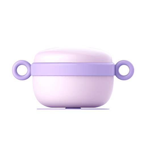 Bol Isolant À Injection d'eau Bol Bébé Portable Bol De Nourriture pour Bébé Bol en Acier Inoxydable Ventouse Bol (Color : Purple)
