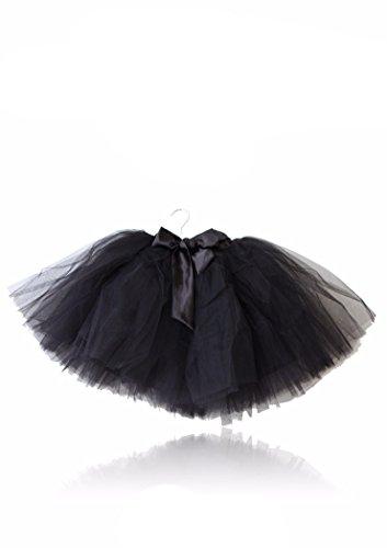 DOLLY by Le Petit Tom ® ROMANTIC LONG TUTU black large 8- 10Y / black / polyester