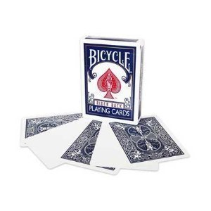 BLU ritorno vuoto Face Magic carte in bicicletta BLUE Back BLANK Face Magic Playing Cards by Bicycle