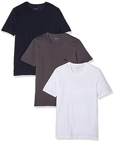 BOSS Hugo Boss Herren Unterhemd T - Shirt RN 3P CO 50325887, Gr. Large, Blau (Open Blue 477)