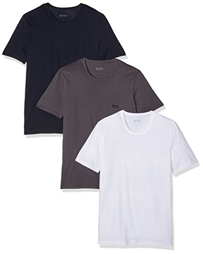 BOSS Hugo Boss Herren T-Shirt, 3er Pack Blau (Open Blue 477)