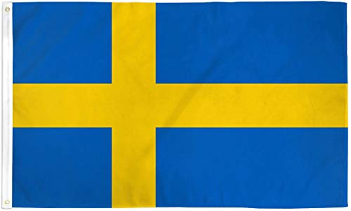 SUPERDAVES SUPERSTORE 3x5 Sweden Flag Swedish Banner Country Pennant New Indoor Outdoor -