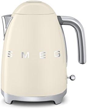 AE Smeg - Hervidor eléctrico, 1.7 l, color crema