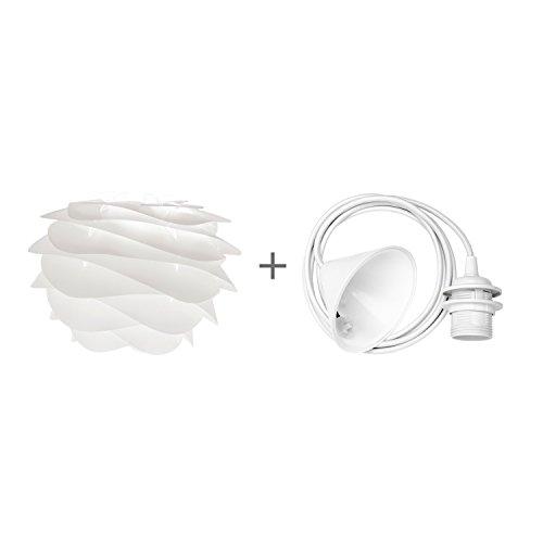 Preisvergleich Produktbild Umage / VITA Carmina Mini Hängeleuchte für A++ bis E inkl. Kabel und Fassung weiss,  32 x 22 cm Lampe