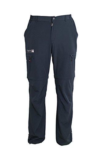 Zip-off Trekkinghose, Outdoorhose & Wanderhose Herren DEPROC KENTVILLE Zipp-Off 4-Wege-Stretch darkanthrazit