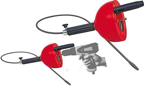 ROTHENBERGER Industrial Rohrreinigungs - Spirale 072990E, 4,5 m lang, verstopfte Abflüsse, geeignet für Bohrmaschine & Akkuschrauber, Abfluss in Bad oder Küche