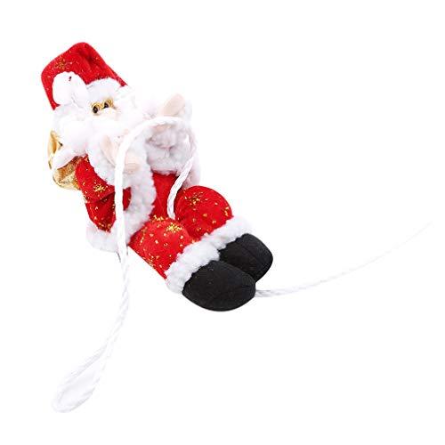 L_shop Weihnachtsmann Puppe Weihnachten Szene Dekoration Hängende Figur Ornamente Anhänger für Weihnachtsbaum, Rot 22 cm