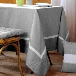LOVELY CASA Angele Nappe Coton Gris 150 x 250 cm