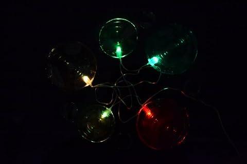 Lichterkette LED Gel Licht Kreise Fensterbild mit Timerfunktion Batterie Deko