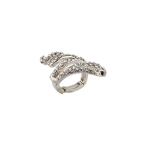Lux accessori cristallo Viscidi Snake Serpente Anello elastico.
