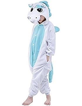 Pigiama costume intero animali unicorno flanella Halloween cosplay regalo per ragazze ragazzi bambini