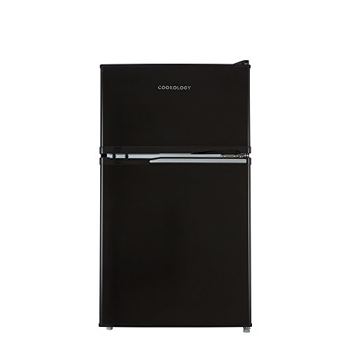 316oAipGrsL. SS500  - Cookology UCFF87BK 47cm Freestanding Undercounter 2 Door Fridge Freezer in Black