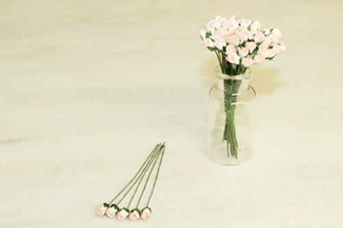 50Sweet 2Tone kleine Rose Scrapbook Handwerk 5mm Mulberry Papier Blume Karte Dollhous