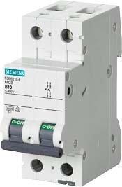 Preisvergleich Produktbild Siemens 5sl6–Automatischer Leitungsschutzschalter 400V 6kA 2-polig c-2a